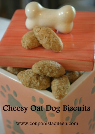 Cheesy Oat Dog Biscuits