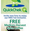 FREE | Medium Harvest Spice Coffee or 20oz Iced Coffee at Quick Chek!