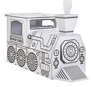 Discovery Kids Cardboard Train, Castle or Lemonade Stand ...