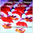 #Recipe | Chocolate Covered Pretzel Santa Claus Hats