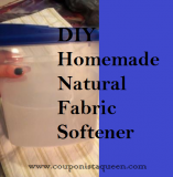 DIY Homemade Natural Green Fabric Softener Recipe