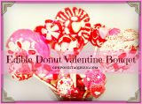Make an Edible Donut Valentine Bouquet