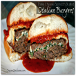 Three Cheese Spinach Stuffed Italian Burgers #Recipe PLUS Win With #GoodCook