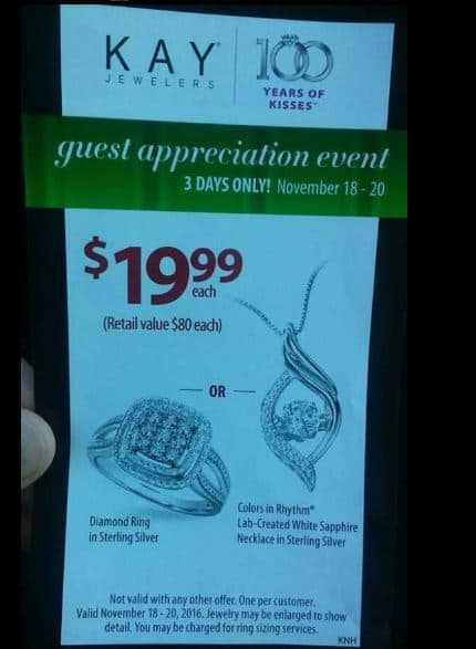 0070ed58b 3 Days ONLY! Kay Jewelers! ONLY $19.99 for a Diamond Ring or ...