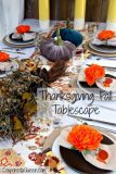 Rustic and Warm Thanksgiving Fall Tablescape