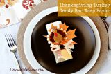 Craft Thanksgiving Turkey Candy Bar Wrap Favors for Your Table