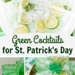 Green Cocktails For St. Patrick's Day