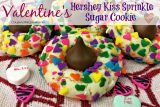 Valentine's Day Hershey Kiss Sprinkle Sugar Cookie